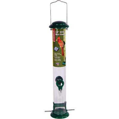 Stokes Select Green Plastic Tube Bird Feeder