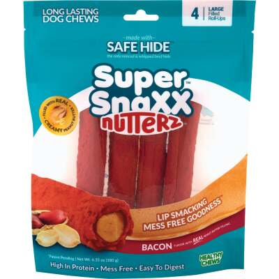 Healthy Chews Super SnaXX Nutterz Bacon & Peanut Butter Dog Treat (4-Pack)