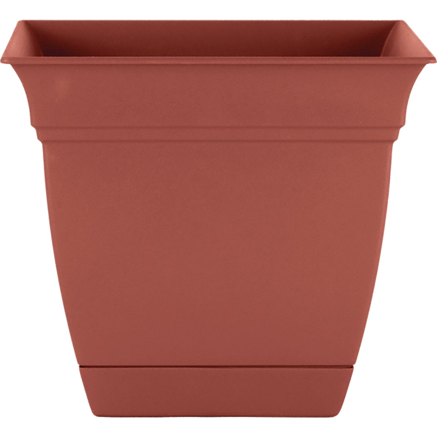HC Companies Eclipse 10 In. x 10 In. x 8.75 In. Resin Clay Planter Image 1