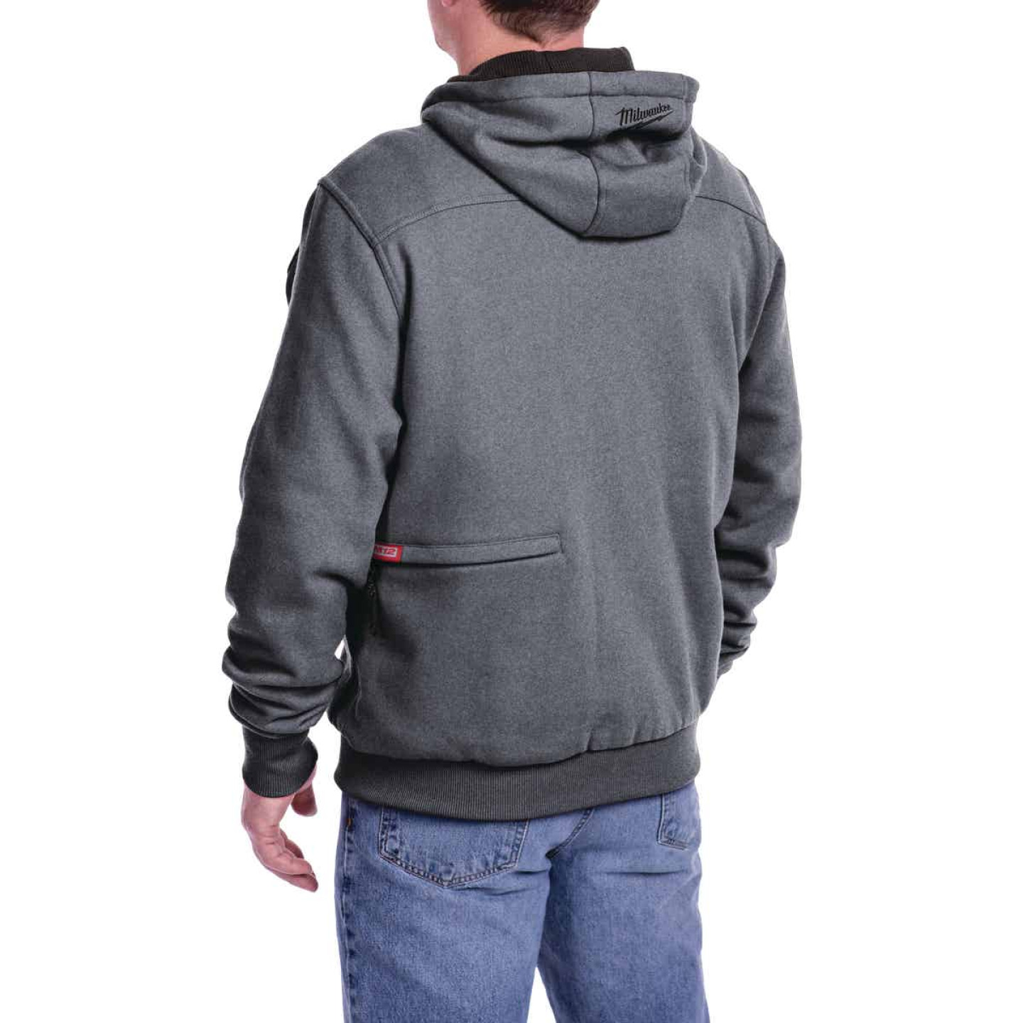Milwaukee M12 XL Gray Men's Heated Full Zip Hooded Sweatshirt Image 9