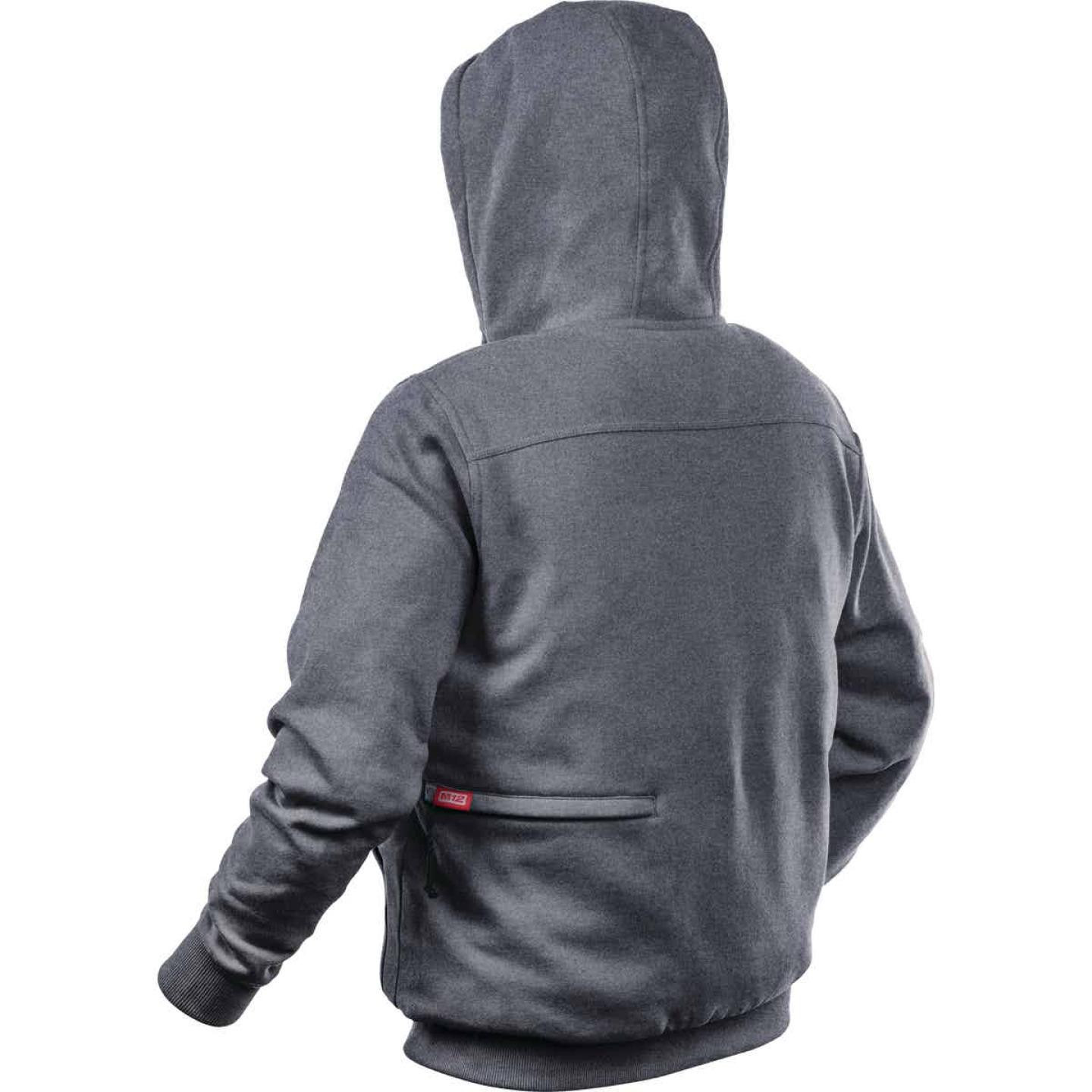 Milwaukee M12 XL Gray Men's Heated Full Zip Hooded Sweatshirt Image 3