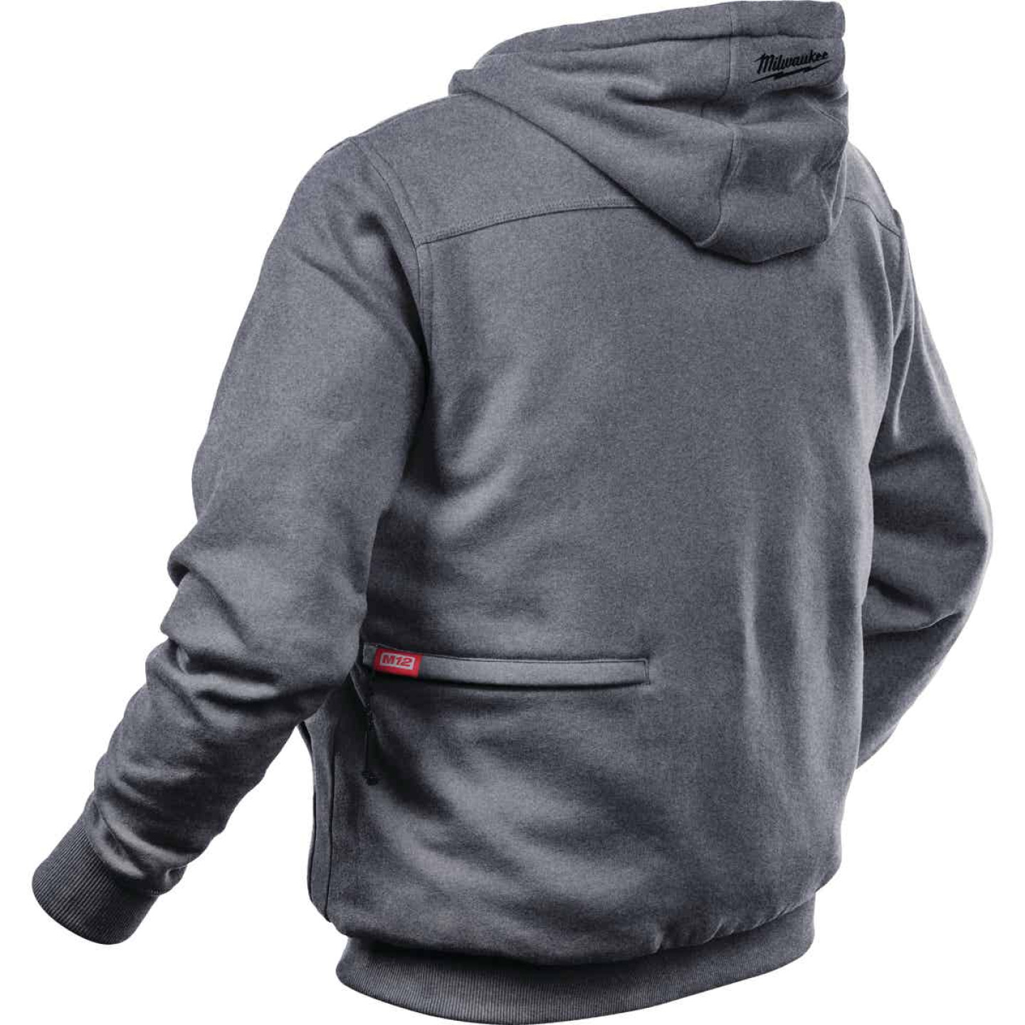 Milwaukee M12 XL Gray Men's Heated Full Zip Hooded Sweatshirt Image 5