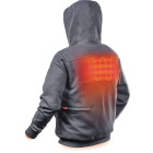Milwaukee M12 XL Gray Men's Heated Full Zip Hooded Sweatshirt Image 4