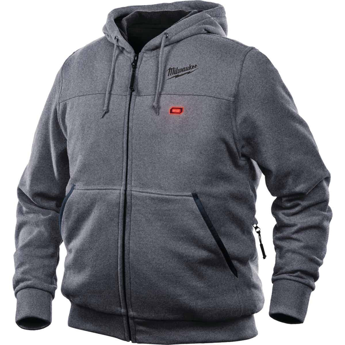 Milwaukee M12 XL Gray Men's Heated Full Zip Hooded Sweatshirt Image 7