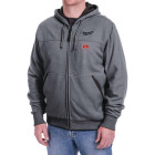 Milwaukee M12 XL Gray Men's Heated Full Zip Hooded Sweatshirt Image 10