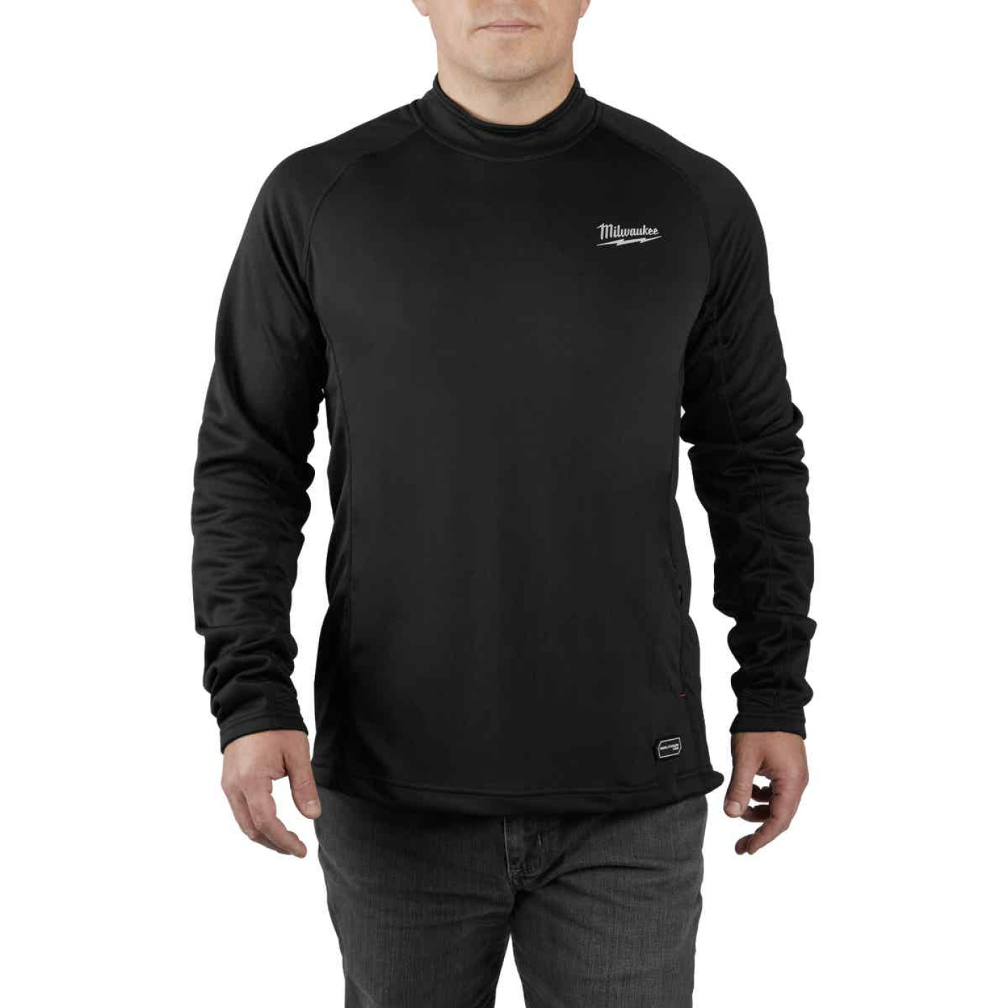 Milwaukee Workskin Medium Black Heated Midweight Base Layer Shirt Image 4
