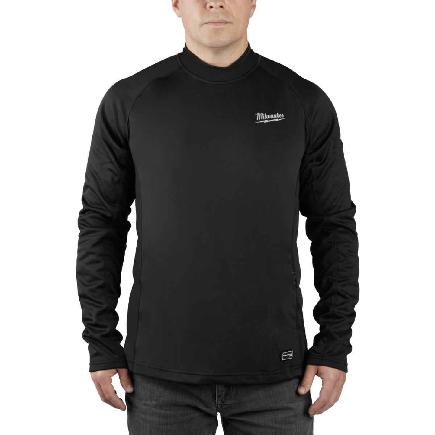 Milwaukee Workskin Medium Black Heated Midweight Base Layer Shirt Image 1