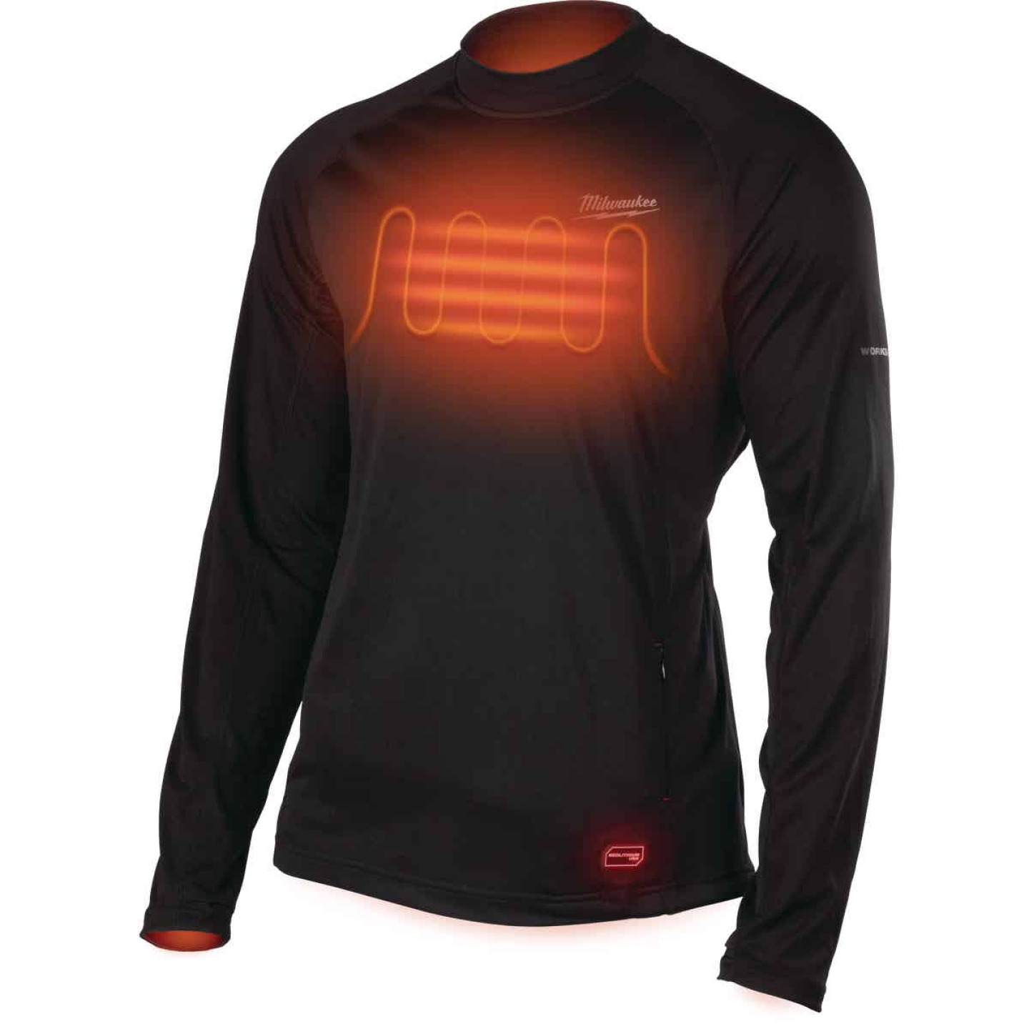 Milwaukee Workskin Medium Black Heated Midweight Base Layer Shirt Image 8