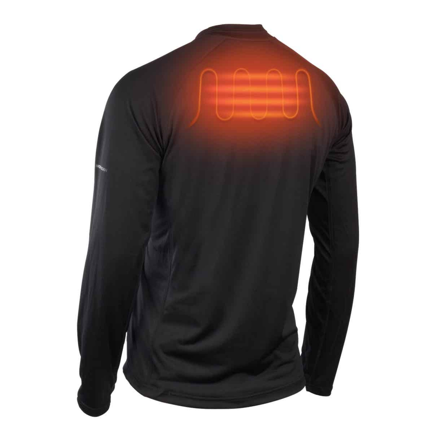 Milwaukee Workskin Medium Black Heated Midweight Base Layer Shirt Image 9
