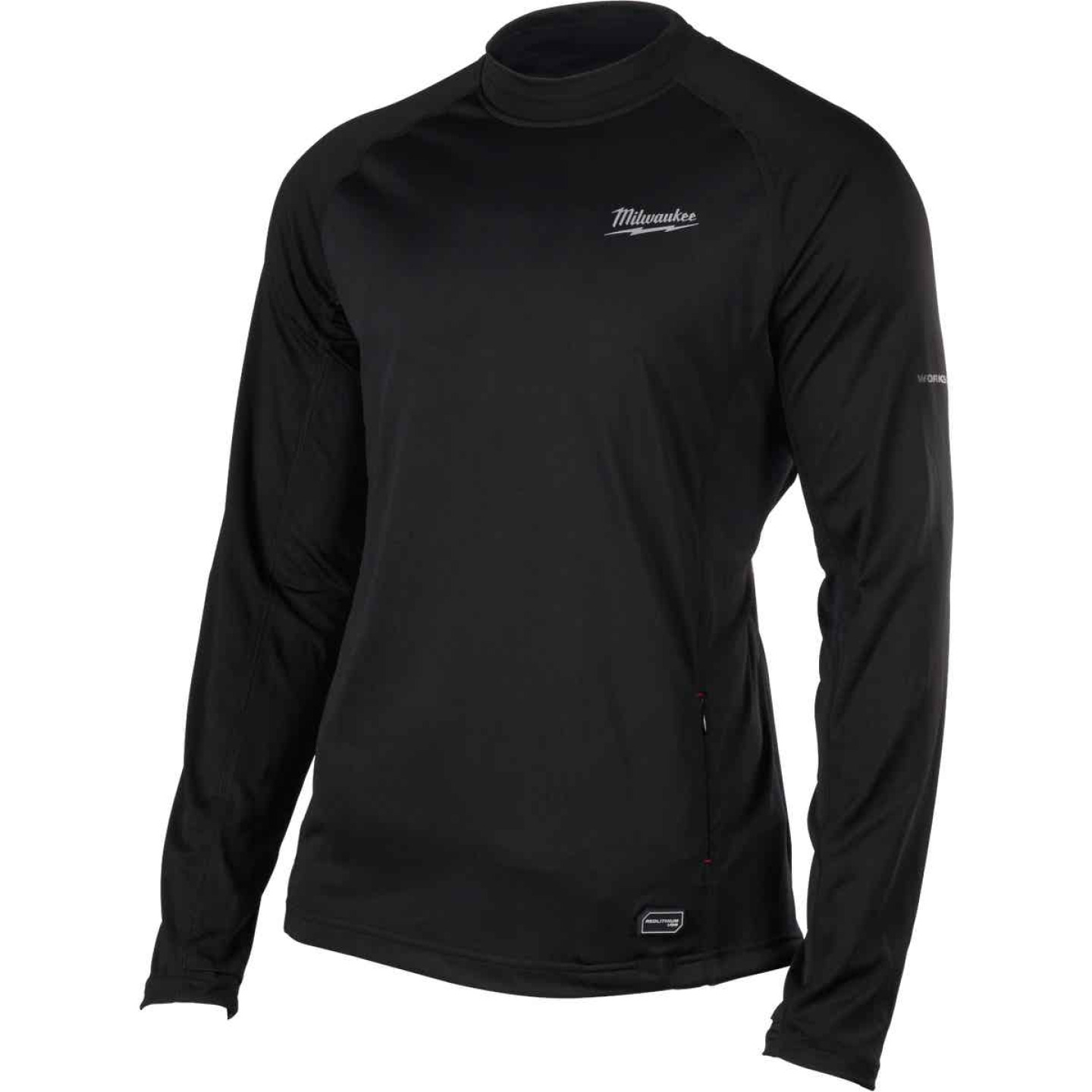 Milwaukee Workskin Medium Black Heated Midweight Base Layer Shirt Image 6