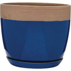 Southern Patio Ana 8 In. Ceramic Clayworks Navy Planter Image 1