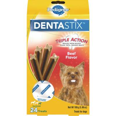 Pedigree Dentastix Toy Dog Beef Flavor Dental Dog Treat (24-Pack)