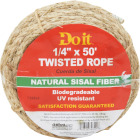 Do it 1/4 In. x 50 Ft. Natural Twisted Sisal Fiber Packaged Rope Image 1