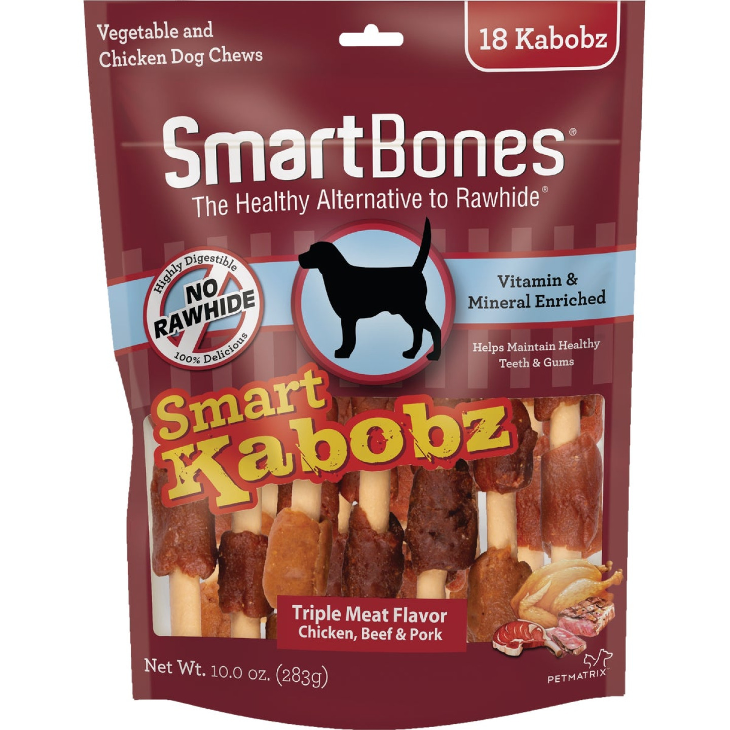SmartBone Kabobz Chicken, Beef, & Pork Chew Bone (18-Pack) Image 1