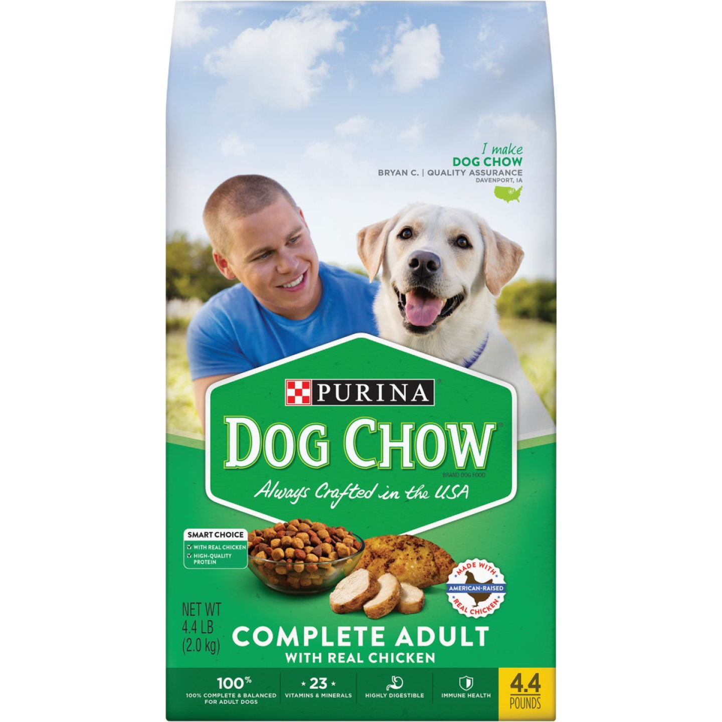 Purina Dog Chow 4.4 Lb. Chicken Flavor Dry Dog Food Image 1
