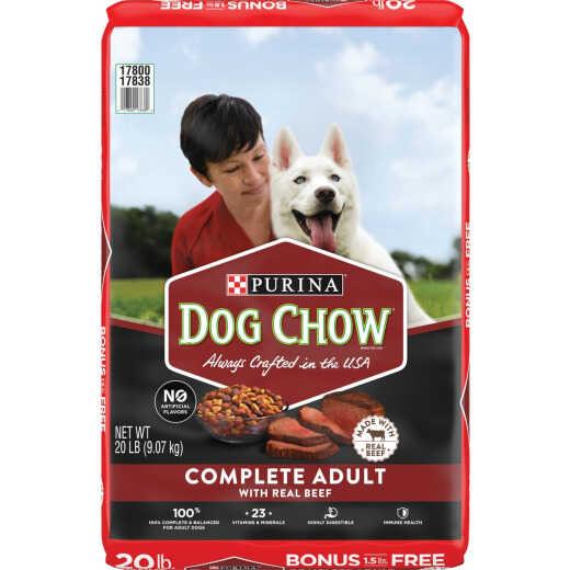 Purina Dog Chow 20 Lb. Beef Flavor Dry Dog Food