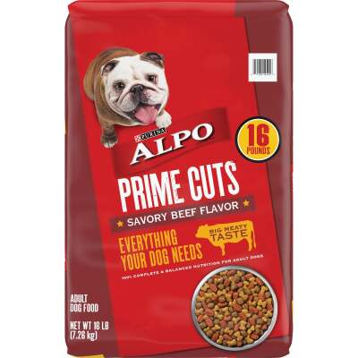 Purina Alpo Prime Cuts 16 Lb. Savory Beef Flavor Adult Dry Dog Food