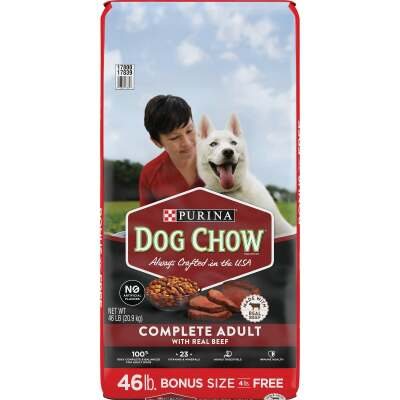 Purina Dog Chow Complete 46 Lb. Bonus Size Beef Flavor Adult Dry Dog Food