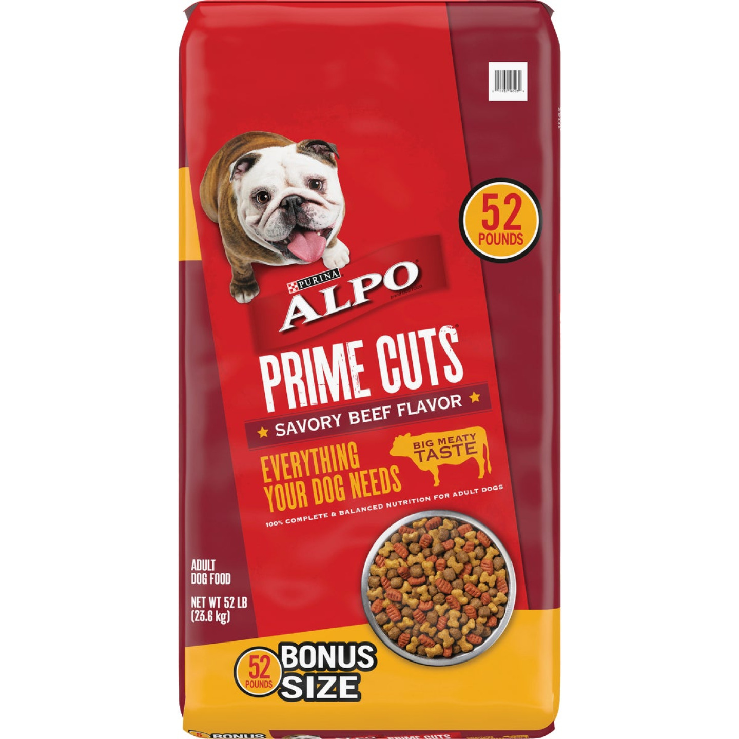 Purina Alpo Prime Cuts 52 Lb. Savory Beef Flavor Adult Dry Dog Food Image 1
