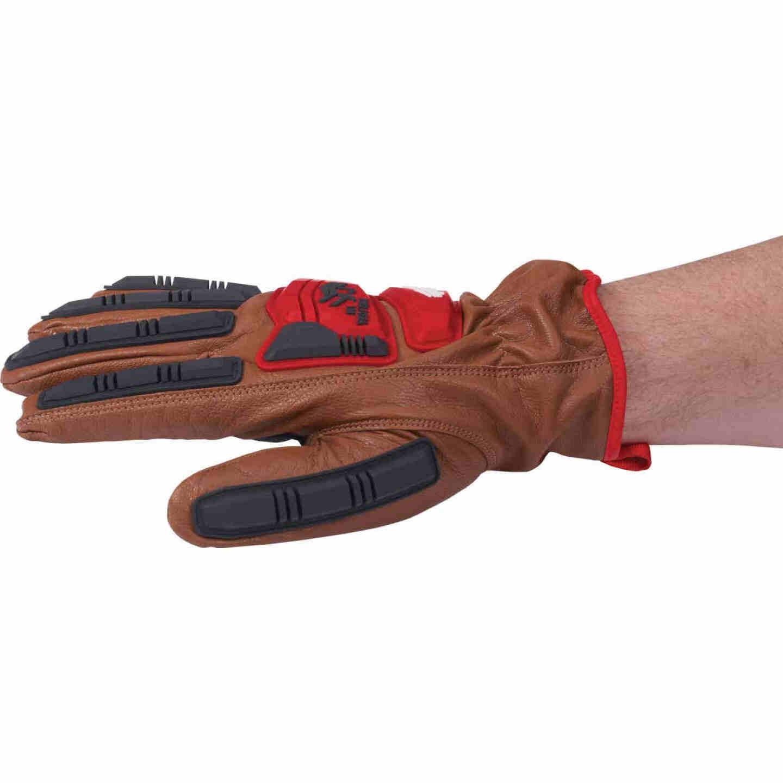 Milwaukee Impact Cut Level 3 Unisex XL Goatskin Leather Work Gloves Image 4