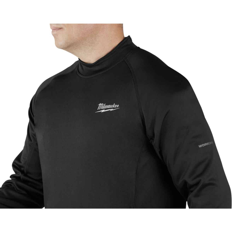 Milwaukee Workskin XL Black Heated Midweight Base Layer Shirt Image 3