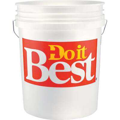 Do it Best 5 Gal. White Pail with Red Logo