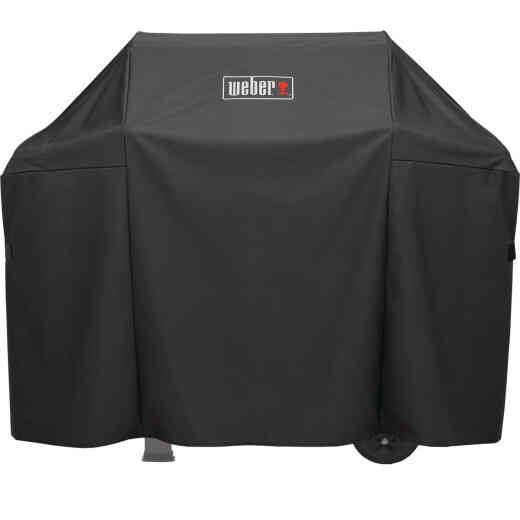Weber Spirit II 51 In. 3-Burner Black Polyester Gas Grill Cover