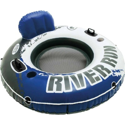 Intex River Run 53 In. Dia. Tube Float, Blue & White