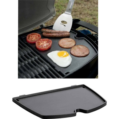 Weber Q 8.6 In. W. x 12.6 In. L. Porcelain Enamled Cast Iron 100/1000 Series Gas Grill Griddle