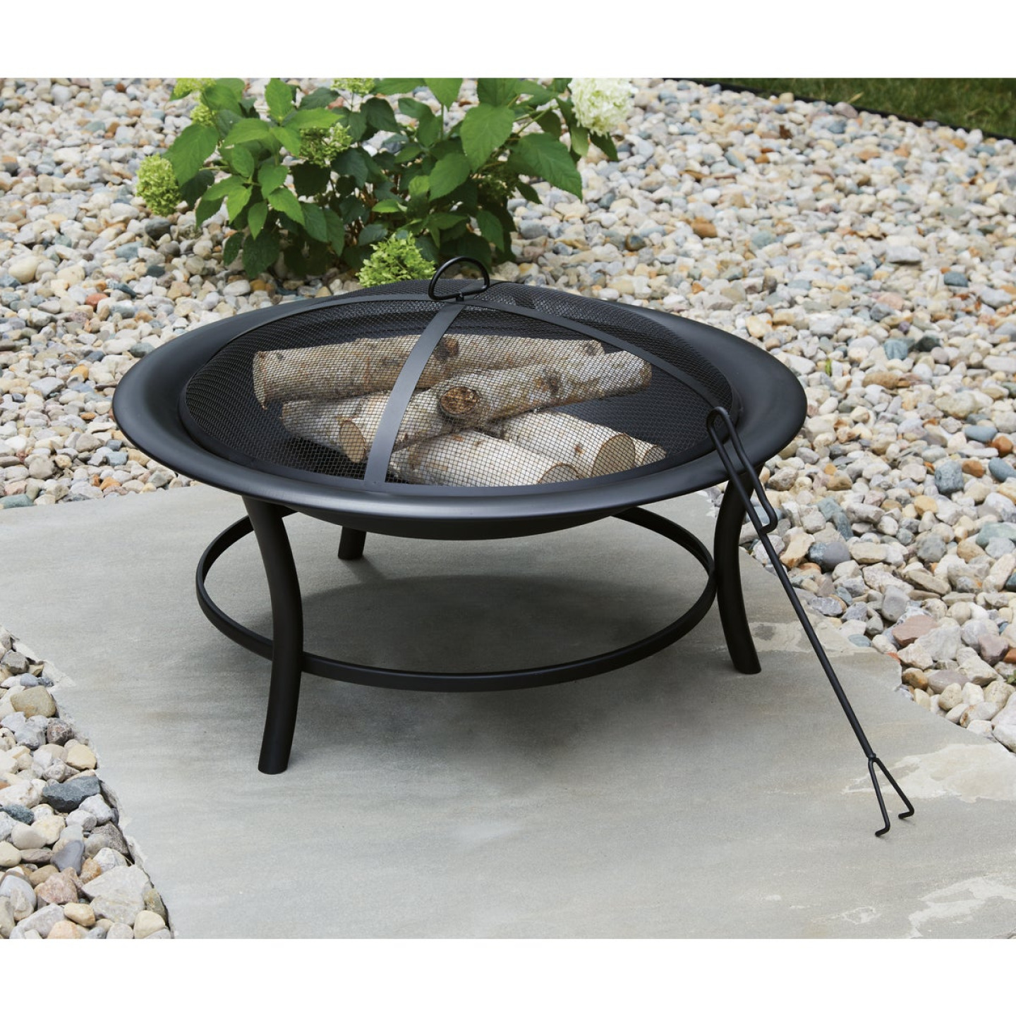 Outdoor Expressions 30 In. Round Steel Fire Pit Image 3
