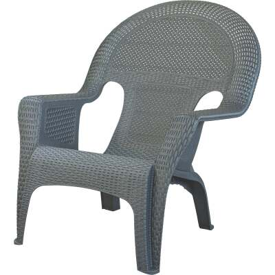 Adams Gray Woven Poly Lounge Chair