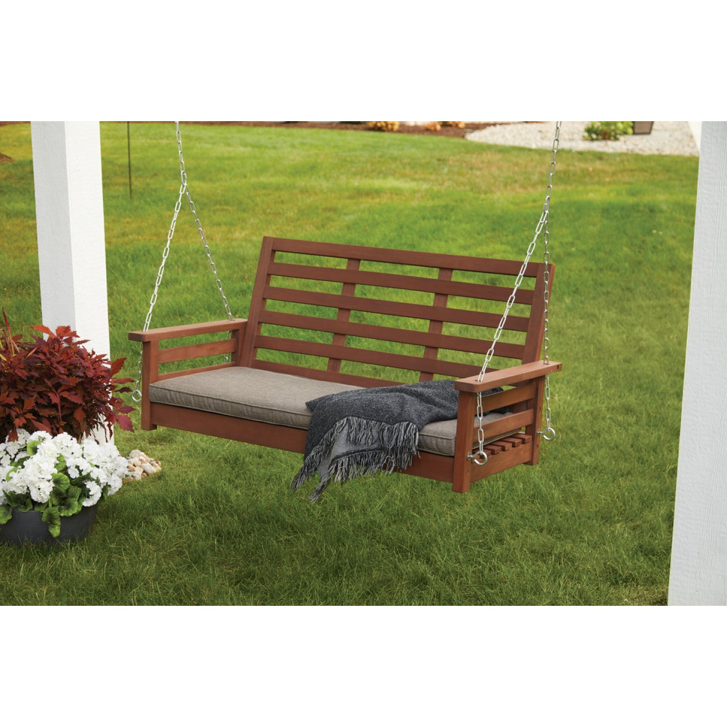 Jack Post 51 In. W. x 23.5 In. H. x 24 In. D. Indonesian Hardwood Porch Swing Image 2