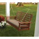 Jack Post 51 In. W. x 23.5 In. H. x 24 In. D. Indonesian Hardwood Porch Swing Image 3