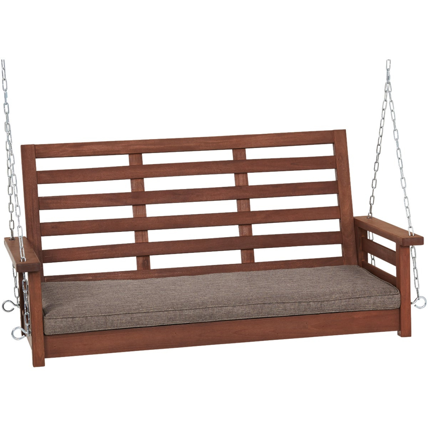 Jack Post 51 In. W. x 23.5 In. H. x 24 In. D. Indonesian Hardwood Porch Swing Image 1
