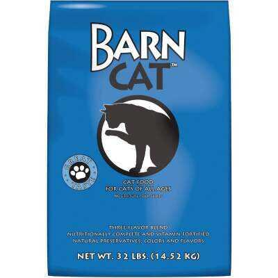 Kent Barn Cat 32 Lb. Chicken, Pork, & Fish Flavor All Ages Dry Cat Food