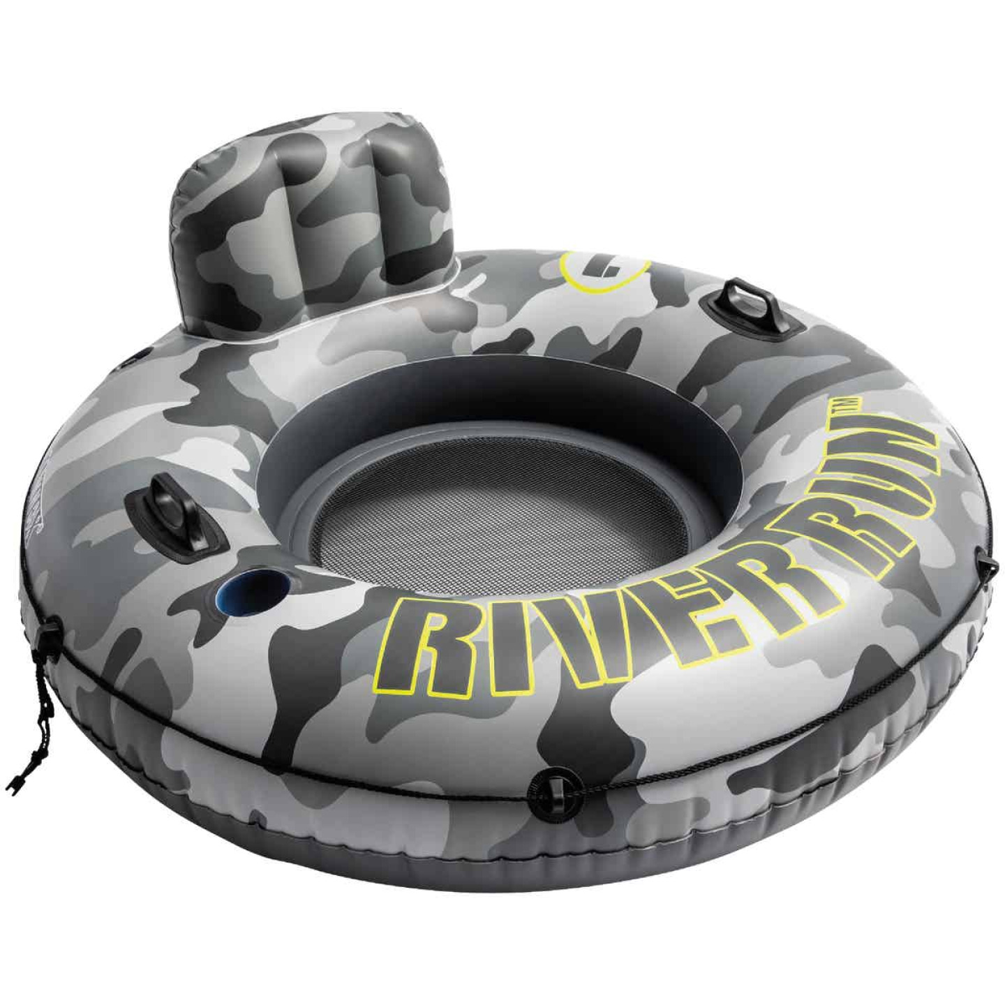 Intex River Run 53 In. Dia. Tube Float, Gray & Black Camo Image 1