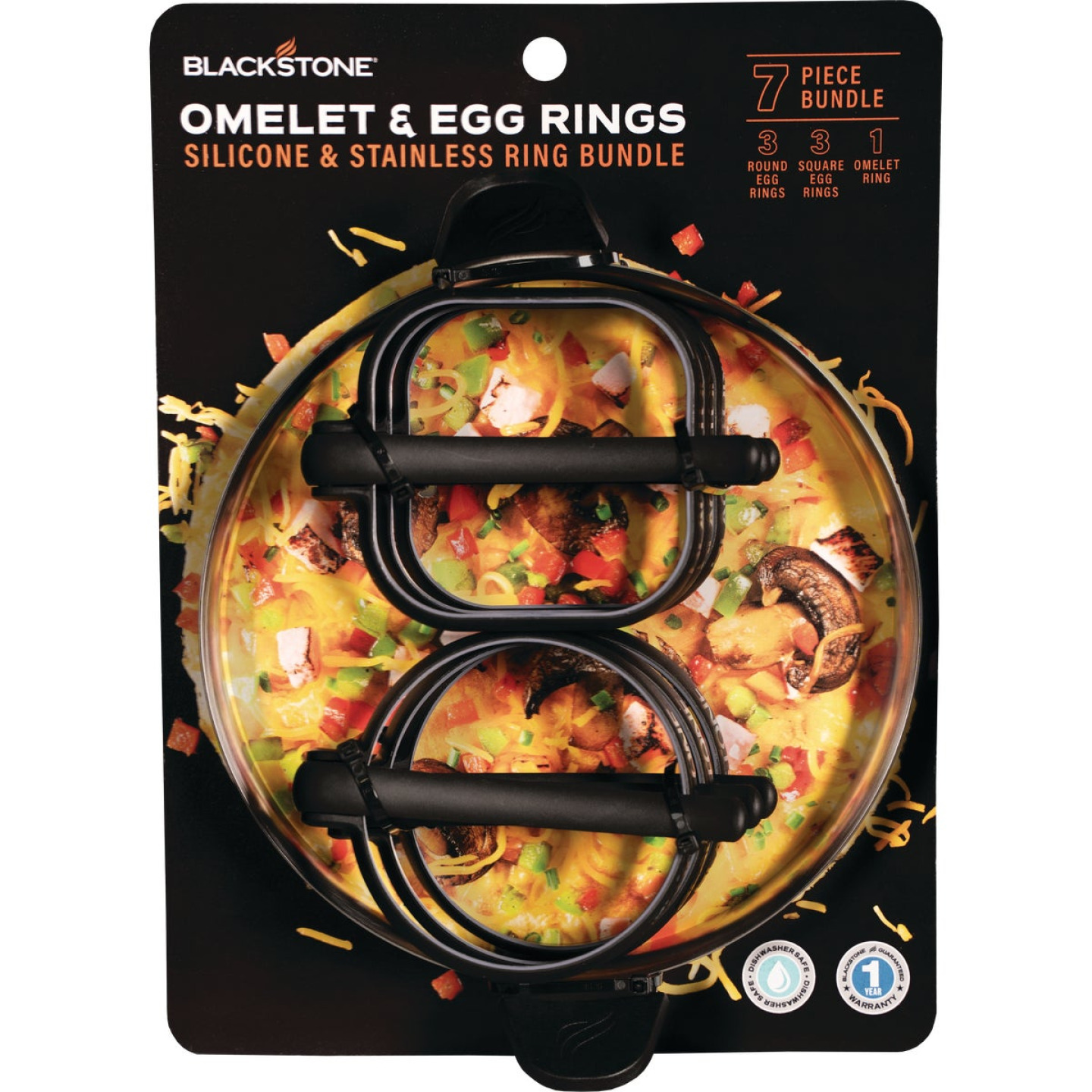 Blackstone Silicone Egg Ring and Omelette Ring 8-Piece Tool Set Image 1