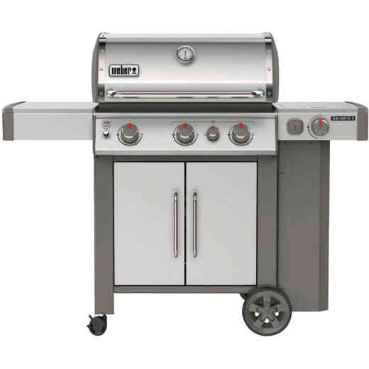 Weber Genesis II S-335 3-Burner Stainless Steel 39,000 BTU LP Gas Grill with 12,000 BTU Side -Burner