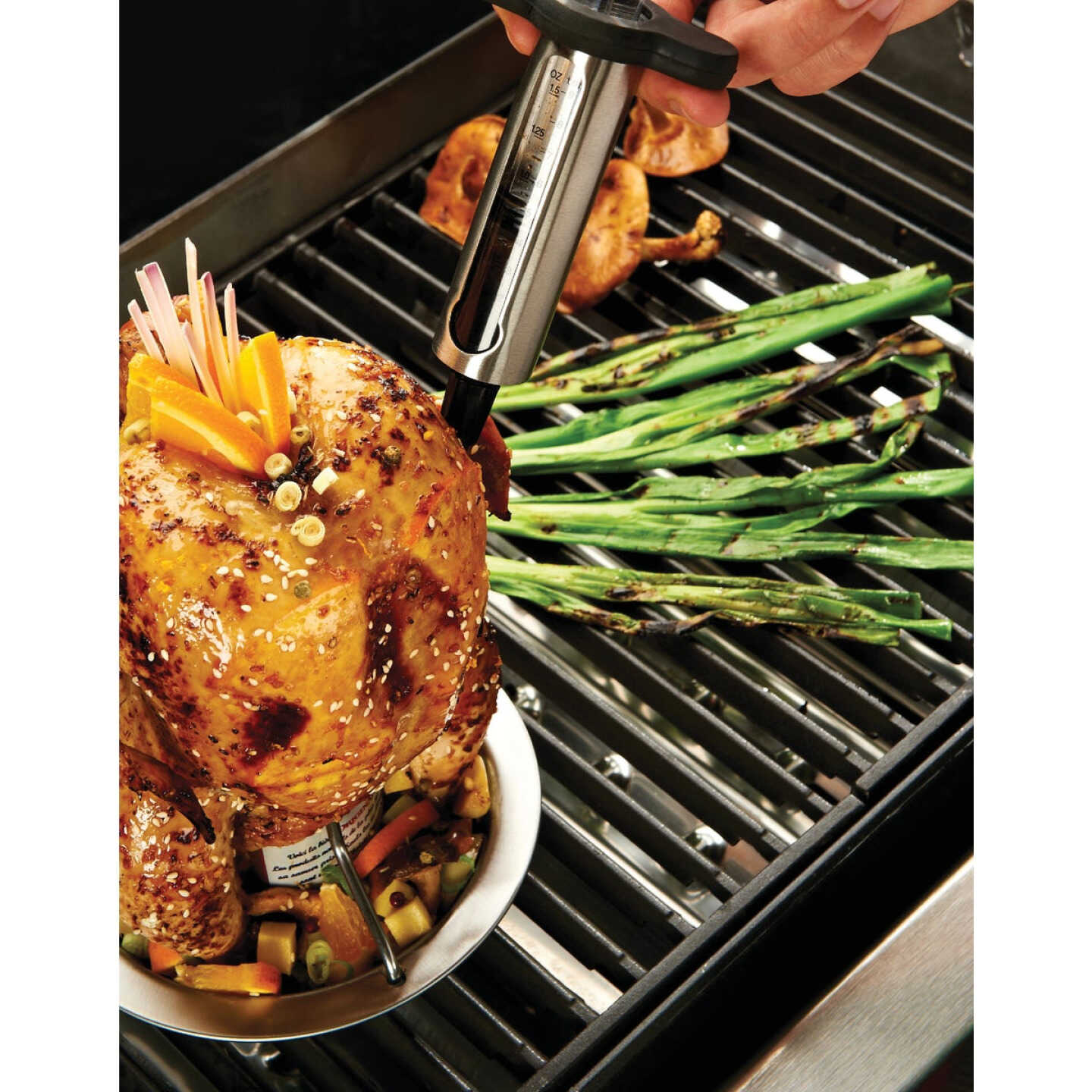 Broil King Stainless Steel 8 In. Premium Meat injector Image 2