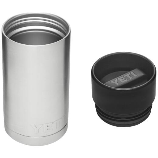 Yeti Rambler 12 Oz. Silver Stainless Steel Insulated Vacuum Bottle with Hot Shot Cap
