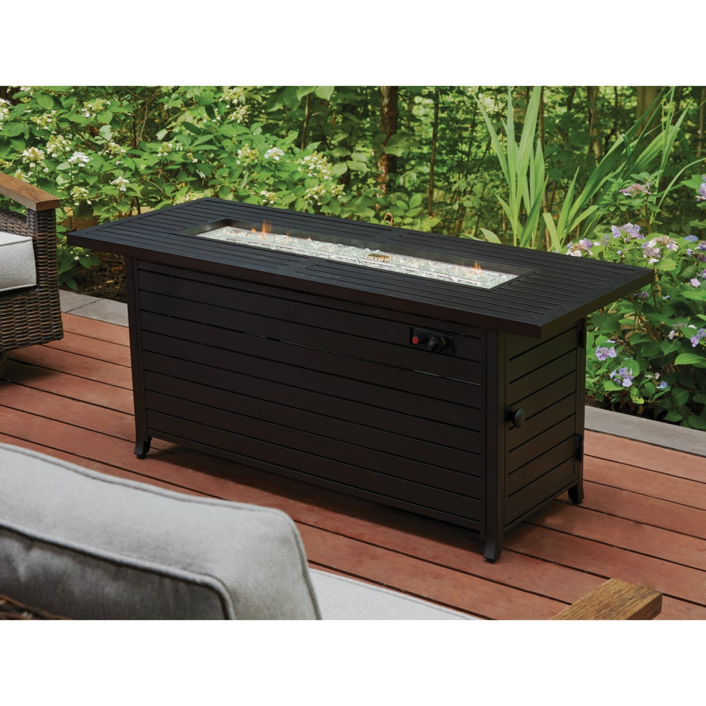 Outdoor Expressions 56 In. x 21 In. Rectangular Propane Fire Pit Table Image 3
