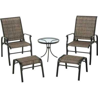 Outdoor Expressions Windsor Collection 5-Piece Sling Chat Set