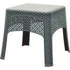 Adams Gray 18.5 In. Square Woven Poly Side Table Image 1