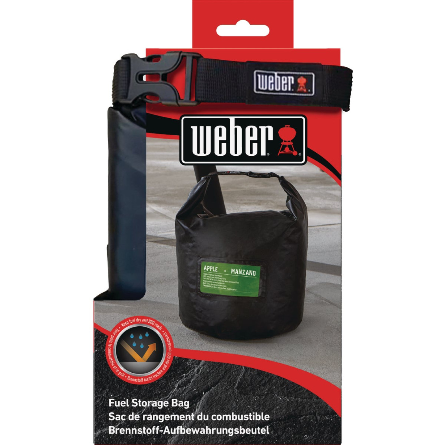 Weber 20 Lb. Capacity 11.8 In. W. x 18.8 In. L. Polyester Pellet/Charcoal Storage Bag Image 3