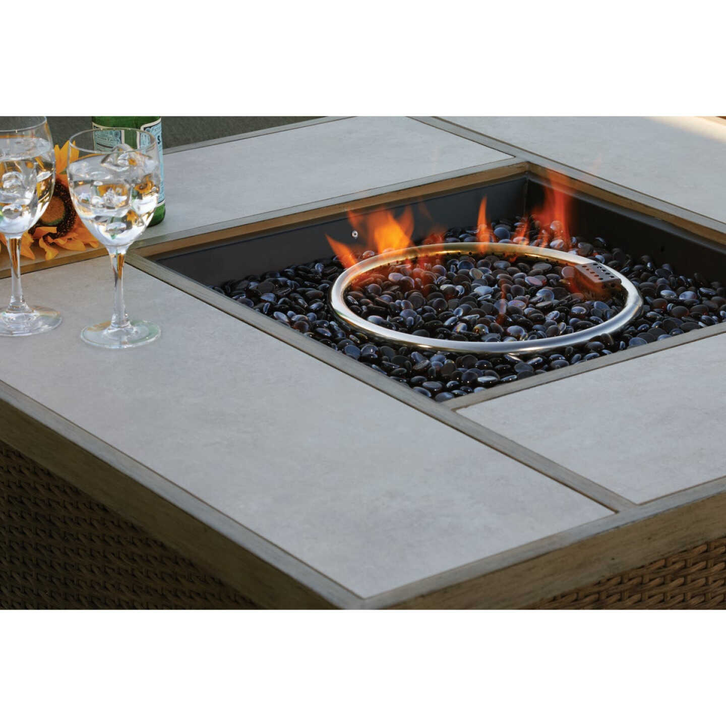 Pacific Casual Shady Creek 5-Piece Gas Fire Pit Chat Set Image 6