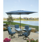 Pacific Casual Capri 5-Piece Fully Cushioned Swivel Dining Set Image 5