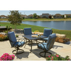 Pacific Casual Capri 5-Piece Fully Cushioned Swivel Dining Set Image 2