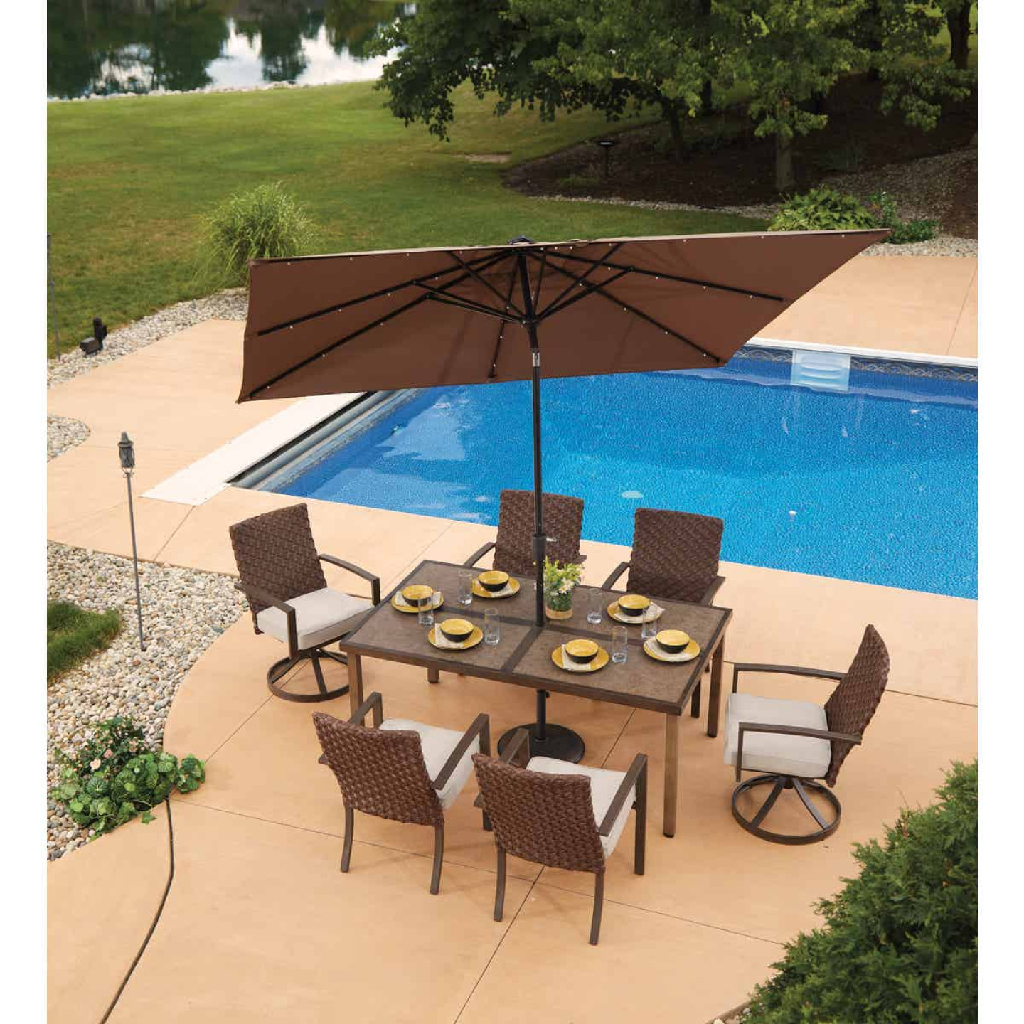 Pacific Casual Addison 7-Piece Dining Set Image 4