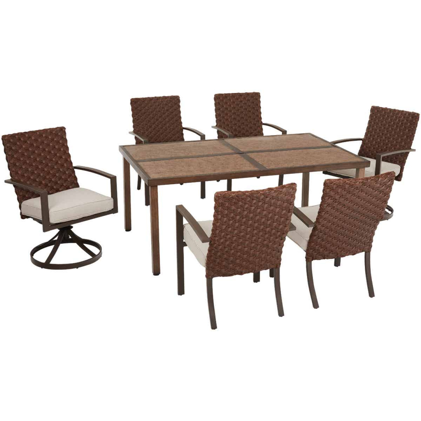 Pacific Casual Addison 7-Piece Dining Set Image 1