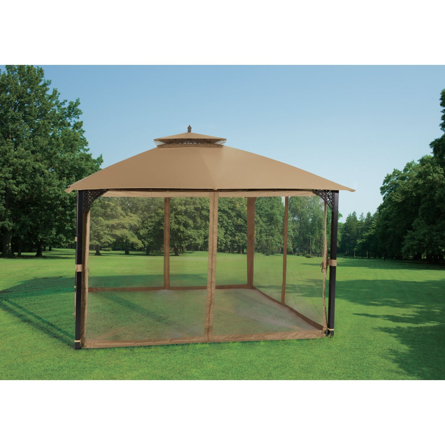 Outdoor Expressions 10 Ft. x 12 Ft. Art Steel Gazebo Image 3